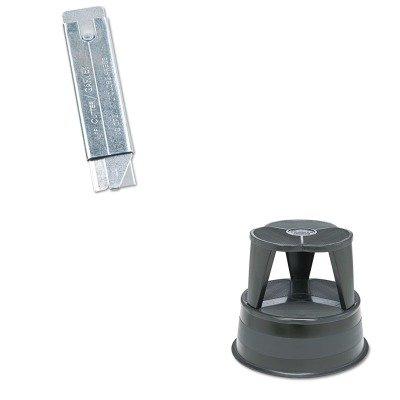 (KITCOS091460CRA100192 - Value Kit - Cramer Original Kik-Step Steel Step Stool (CRA100192) and Retractable Jiffi Cutter Utility Knife (COS091460))
