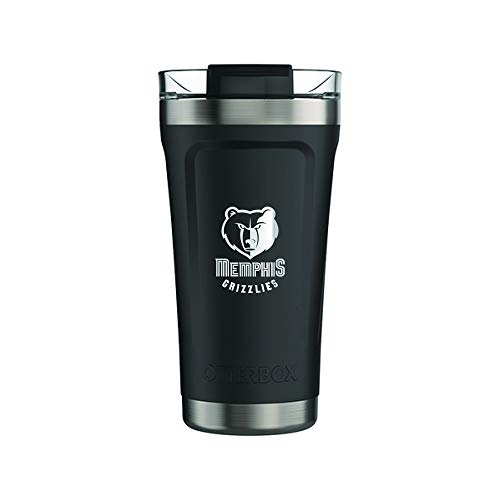 OtterBox Fan Brander 16oz Black Tumbler with NBA Design (Memphis Grizzlies) ()