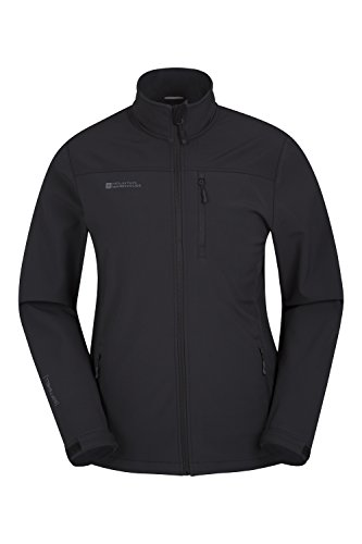 Mountain Warehouse Grasmere Mens Softshell Jacket -Breathable Shell Black Medium