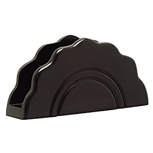 Wooden Black Napkin Holder - Decorative Centerpiece Office/Home/Bar and Restaurant – Envelope/Letter/Document Holder - Multipurpose Table Essentials - Clearance Sale Items on Table Decorations
