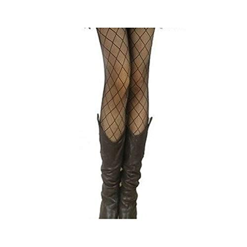 Youthern Women Girls Core Wire Jacquard Club Panty Knitting Net Thin Pattern Tattoo Fishnet Stockings,Small Diamond ()