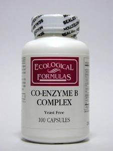 Formules écologiques / Res cardiovasculaires. - Co-Enzyme Complex B - 100 Caps.