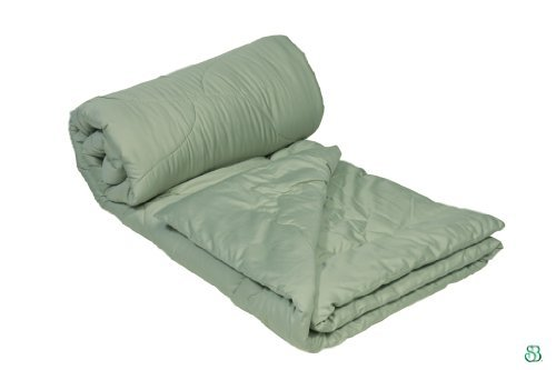 Certified Organic Merino Wool Comforter GREEN TEA in Full/Queen Size, 86x86'' by Sleep & Beyond® by Sleep & Beyond