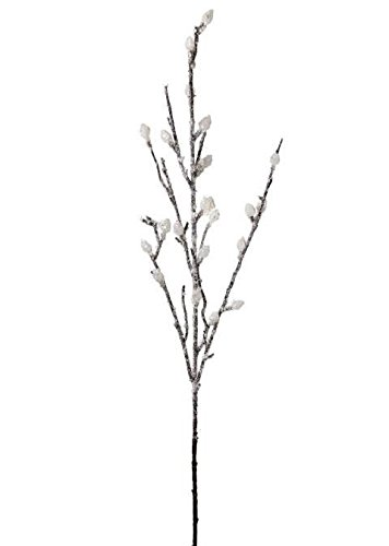 AFL001-3pc-Artificial-Snow-Frosted-Pussy-Willow-Spray-33-Tall