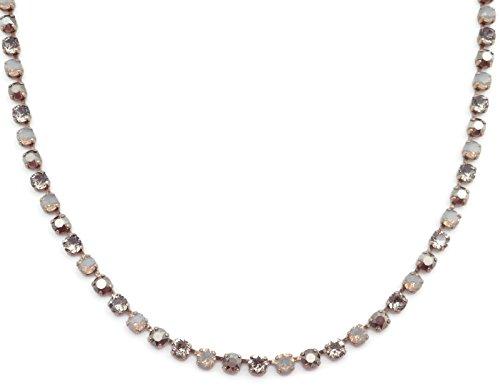 Catherine Popesco Light Grey Opalescent & Dark Grey Mix Swarovski Crystal Goldtone ()