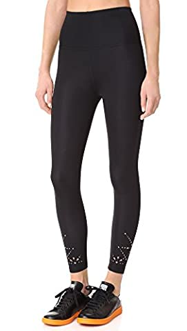Beyond Yoga Women's Knit Down High Waisted Midi Leggings, Jet Black, Small (Jet Midi)