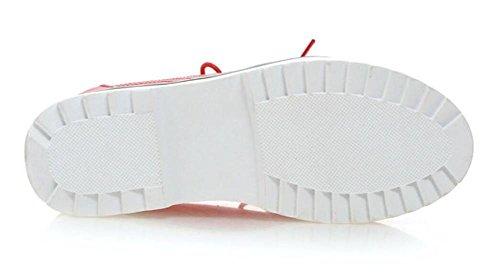 LDMB Le printemps et l'automne s'accroissent avec les cales dans les chaussures de plate-forme à semelles épaisses , red , 36