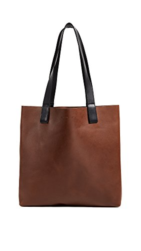 OTAAT/MYERS Collective Women's Square Tote Bag, Tobacco/Black, One Size