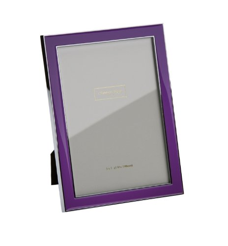 Addison Ross, Contemporary Photo Frame, 5x7 , Purple Enamel,