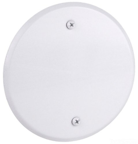 Red Dot CCRB Device Outlet Box Cover, Blank, Round, 5-Inch Diameter, White by Thomas & Betts (Image #1)