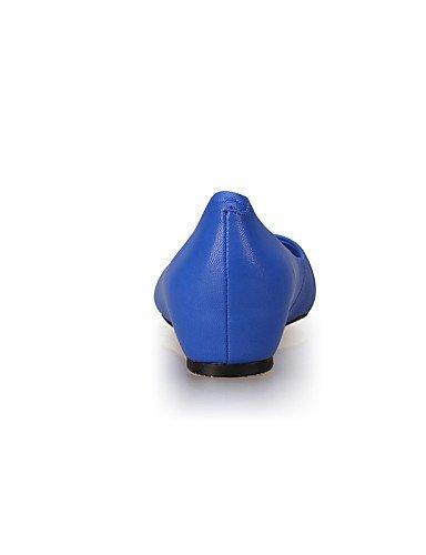 Piatto Scarpe Denim A Donna Blu Comoda Ballerine Rosso Chiusa ShangYi Blue Nero Casual punta nWp1ZFdwx