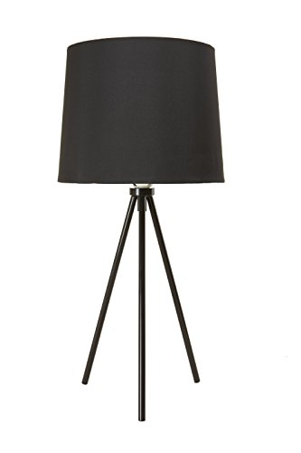 Newhouse Lighting NHDK-AL-BK Alexandria Tripod Table Lamp, Black