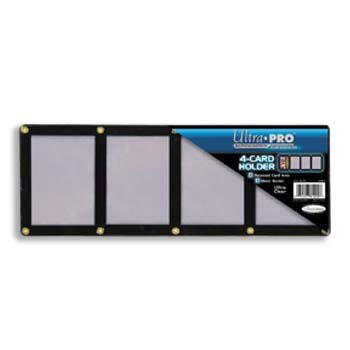 Ultra Pro UPSCR4CD Screwdown - Black & Clear Frame - 4-Card Black Holder
