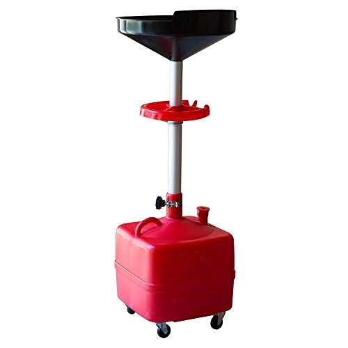 Plastic Waste Oil Drain with Casters, 10-Gallon w/ Tool Tray Kit 5180 (Plastic Waste Drain Oil)