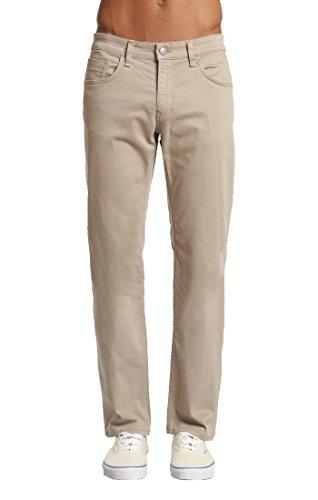 Mavi Men's Zach Regular-Rise Straight-Leg Jeans, Beige Twill, 33W X 32L - Leg Wide Trouser Twill