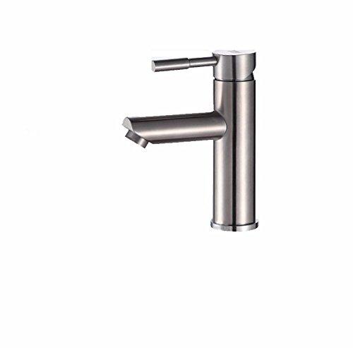 PEIWENIN-Baño lavabo inoxidable lavabo grifo caliente y frío ...