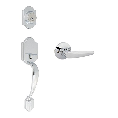 Citiloc 741196 Princeton Dummy Handleset with Florence Lever Polished Chrome