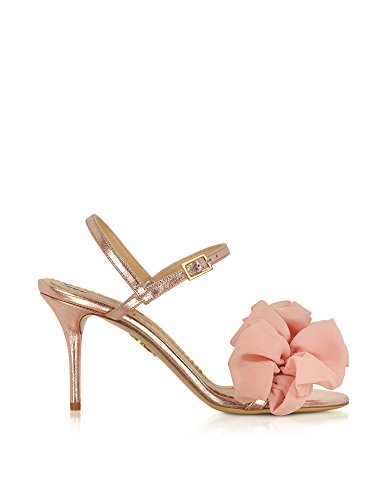 charlotte olympia Women's Ols1855342260 Pink Leather Sandals