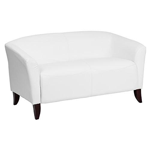 ULES Imperial Series White Leather Loveseat (Series White Leather)