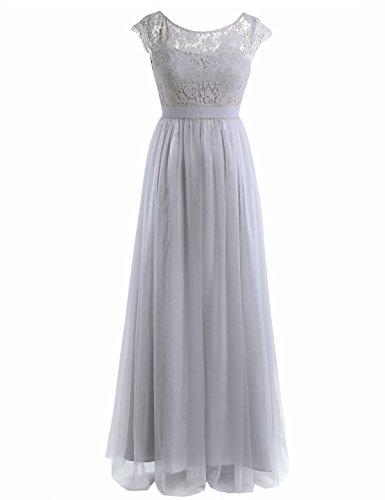 gray cap sleeve dress - 2