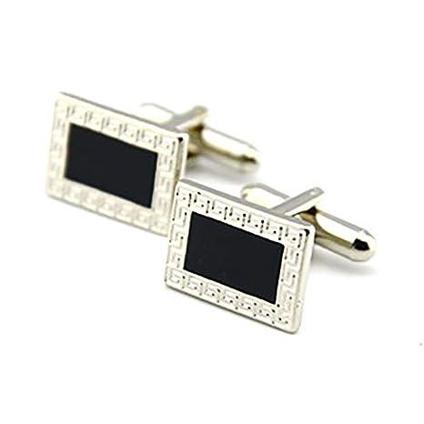 Namgiy Sleeve Button pour Homme Tendance pour Boutons de Manchette Chemise pour Mariage Business 1.75/x 1.25/cm 1.75 1.25CM Silver
