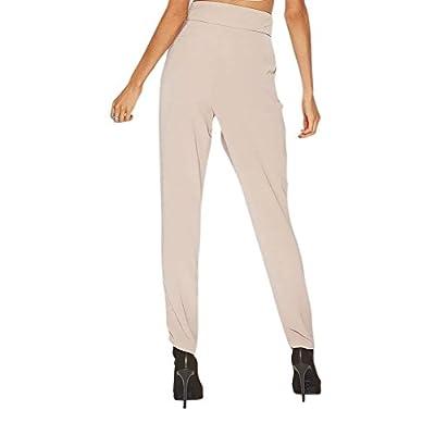 0a960f25c Battercake Elégante Mode Pantalon en Tissu Femme Printemps Bandage ...