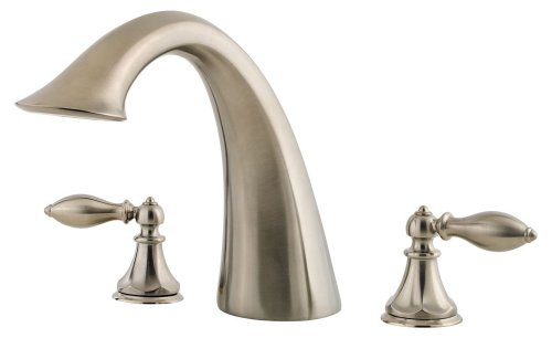 Price Pfister 806E0BK Catalina Double-Handle Roman Tub Faucet, Brushed Nickel