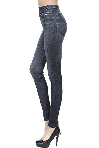 Si Impronta Pantaloni Denim Le Darkgrey Jeans Donne Addosso Lava I Scappando Finta Elasticizzati 6wUgxTU5q