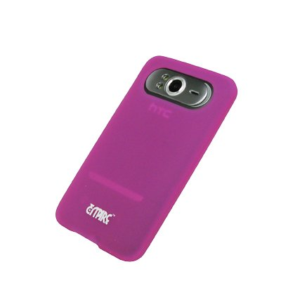 EMPIRE Hot Pink Rosa Silicone Skin Cover Case Tasche Hülle for HTC HD7