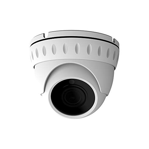 LongPlus HD-TVI 5MP CMOS 4-in-1 CCTV Home Surveillance IP66 Weatherproof IR Cut Dome Security Camera, White (LPHDC5MDM)