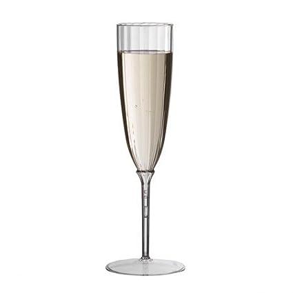 7d3f5ffa5c2 Amazon.com | Plexware 5 Oz Clear Premium One Piece Plastic Champagne Flutes  8/pk: Champagne Glasses