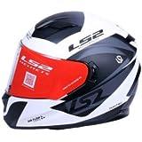 LS2 Helmets - Stream Evo - Damitry - Matt White Black - Dual Visor Full Face Helmet - (Medium - 570 MM)