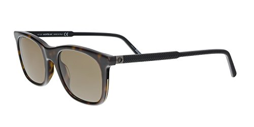 Mont Blanc MB607S - 52J Sunglasses Dark Havana/Roviex ()