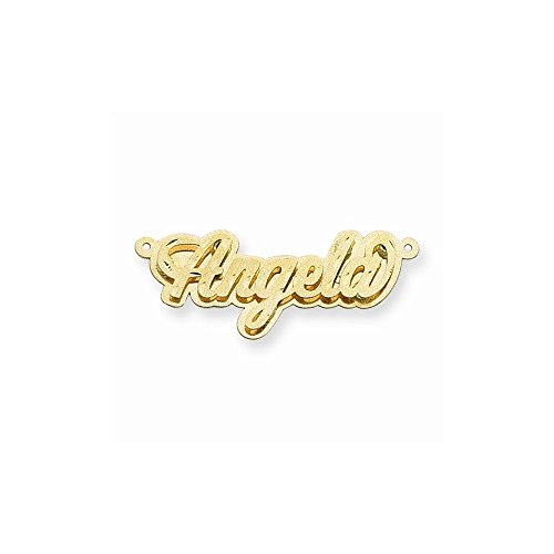 14k Polished Dia-Cut 3D Name Plate, Best Quality Free Gift Box (Polished Nameplate 3d)