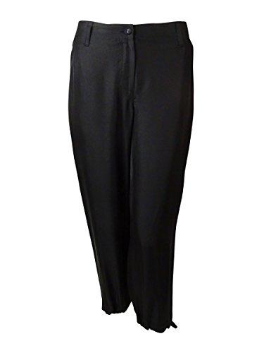 Eileen Fisher Women's Twill Silk Cropped Lightweight Pants (XS, Black) by Eileen Fisher