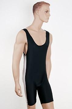 Lucha libre/artes marciales traje Lycra negro/blanco Tamaño ...