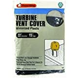 Frost King Winterrized Plastic Turbine Vent Cover, Fits average size