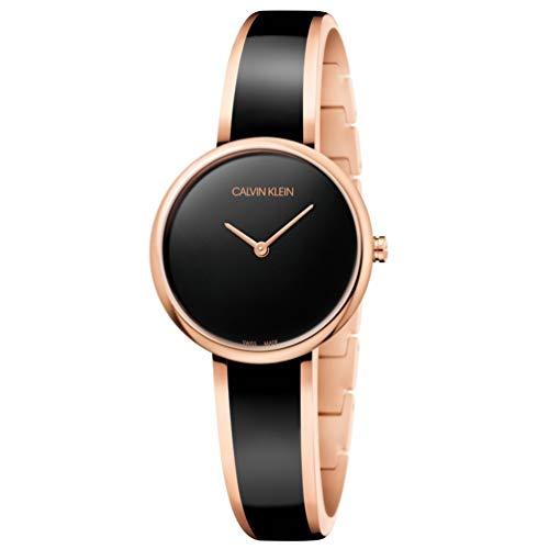 Calvin Klein Seduce Woman Watch K4E2N611 Rose Gold Steel Black dial