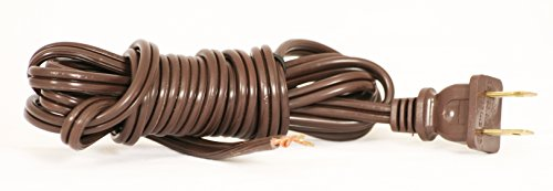 - Royal Designs Lamp Cord with Molded Plug, Brown, 12 feet, SPT-2 (CO-1001-BR-12-1)