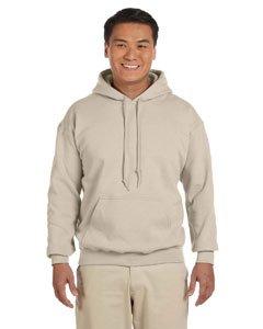Gildan mens Heavy Blend 8 oz. 50/50 Hood(G185)-SAND-L - Over Under Hoody Sweatshirt