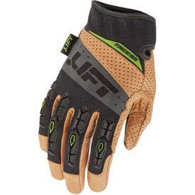 Lift Safety Tacker Anti-Vibe Glove, Brown/Black, Leather Palm, 2XL, 1 Pair, GTA-17KB2L (GTA-17KB2L)