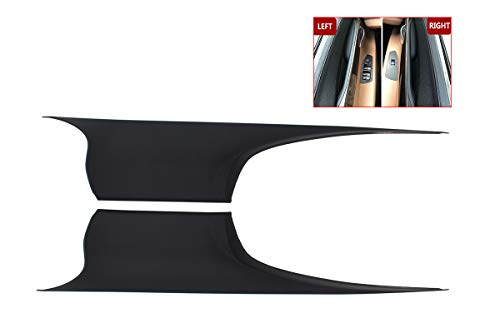 and Right Front Passenger & Drive Side Inside Interior Inner Door Pull Handle Carrier Trim Covers ()