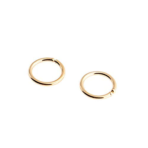 Gold Filled Hoops 6 x 0.8mm Hugging Tiny Handmade, Earrings ()