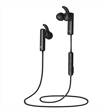 Wireless Earbuds, TaoTronics Bluetooth Headphones with Lightweight Compact Construction, Cordless 4.1 Earphones with Durable Aluminum Alloy Build (Inline Controls – Only 0.53 (Musical Instruments & Accessories)
