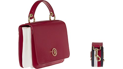 Tommy Hilfiger - Youthful Heritage Flap Crossover, Pochette da giorno Donna Rosso