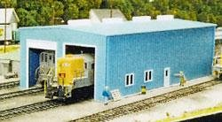 Pikestuff HO Modern 1 or 2 Stall Engine House Kit ()