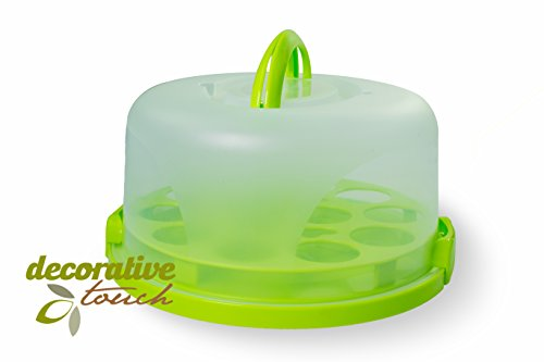 Cupcake Cake Carrier Keeper Portable 3-piece Airtight Container Storage Pie Dessert Sweets Cookies 11