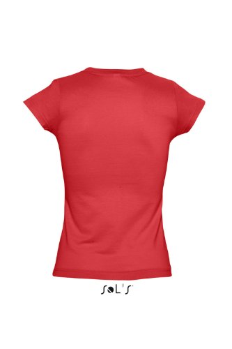 Sols - Moon - Damen V-Neck T-Shirt , Red , S