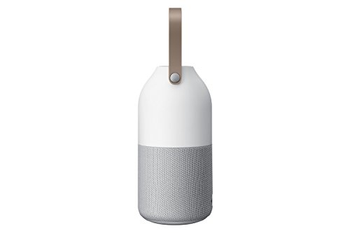 Samsung Bottle Design Wireless Speaker, w/ interchangeable multi-color LED light and Wireless Charging