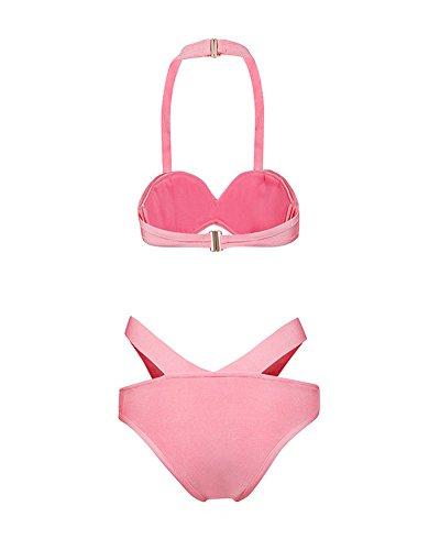 L'alto Bikini Dalla Fasciatura Donne Il Rosa Da Sexy Verso Spingono Whoinshop Bagno Costume Criss Delle Cross RtxzqPaw
